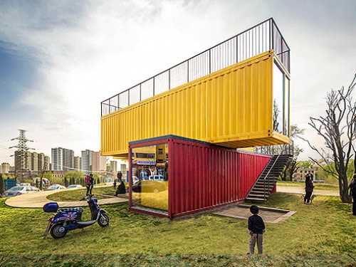CONTAINER STACK PAVILION